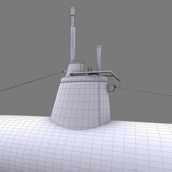submarine surcouf french 3d model - Kouh youteki A-Type submarine... by POPA_3D