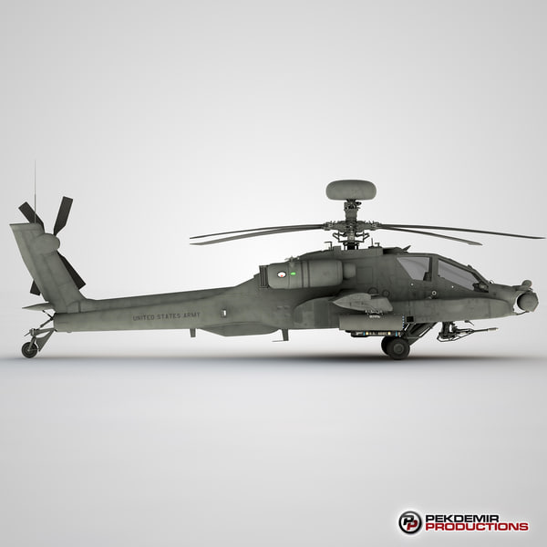 apache longbow helicopter 3d model - Apache Longbow Helicopter... by Pekdemir