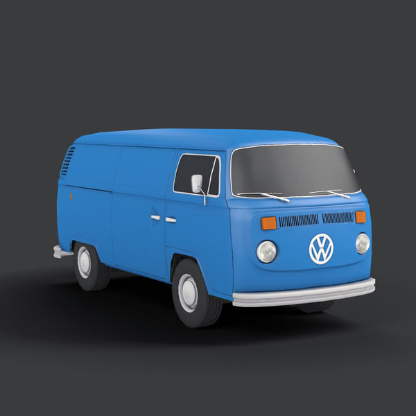3d model bus 4x4 vintage - T2 VAN... by QLEE
