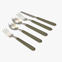 3ds max silverware set