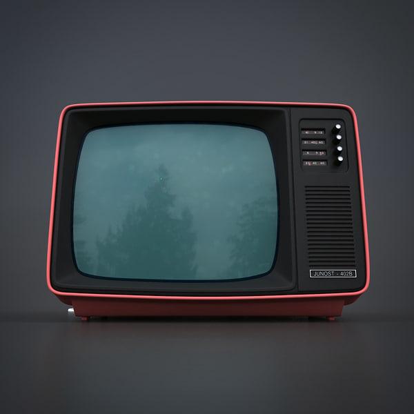 Old Style Retro Tv 3d Model