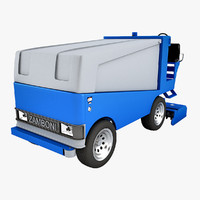 3ds max ice cleaning truck zamboni