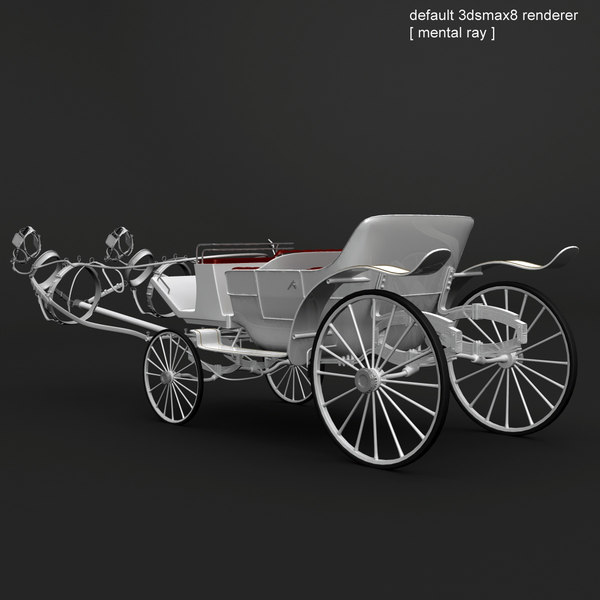 3d horse car carriage - White Landau... by QLEE