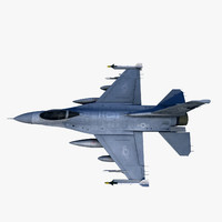 f-16 fighting falcon jet fighter 3d model