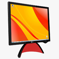 3d model lcd display lg monitor