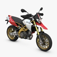 aprilia dorsoduro 3d c4d