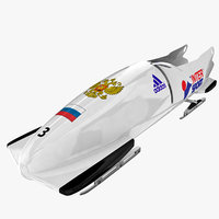 3ds max bobsleigh sled - russia