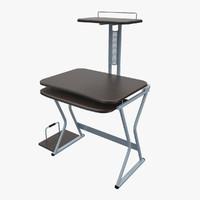 free 3ds model computer desk