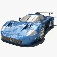 racing sport car maserati mc12 obj