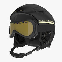 Winter Sports Helmet and Ski Goggles