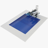 3d olympic diving pool model