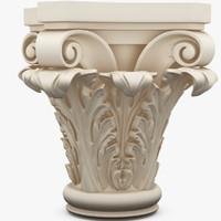3d column capitel