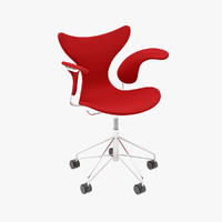 upholstered lily chair 3d model