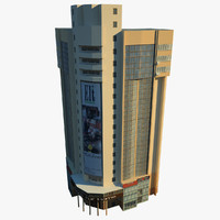 3d low-poly building model