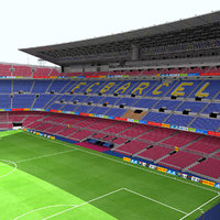 camp nou stadium football 3d model
