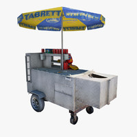 3d model studio hot dog vendor