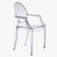 - kartell louis ghost armchair 3d 3ds