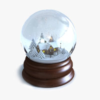 Snow Globe Animated  Winter