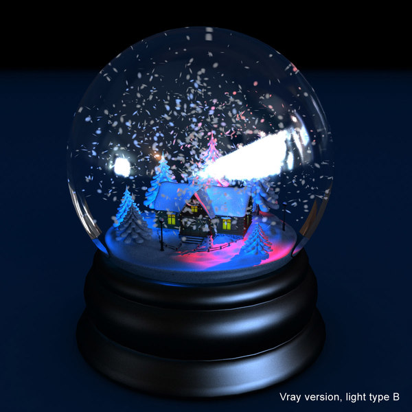 3d model of snow globe animations snow globe animated winter by