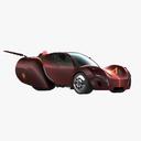 three-wheeler car 3D models