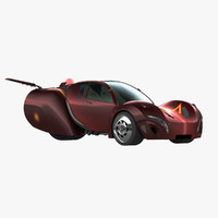 three-wheeler car 3D models