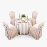 3d model 2 vase chair