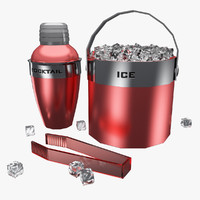 3d shaker ice bucket cocktail model