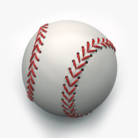 3d baseball object holes