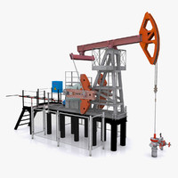 oil pump jack 3d model