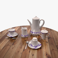 3d tea set