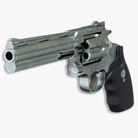 colt anaconda revolver 3d ma