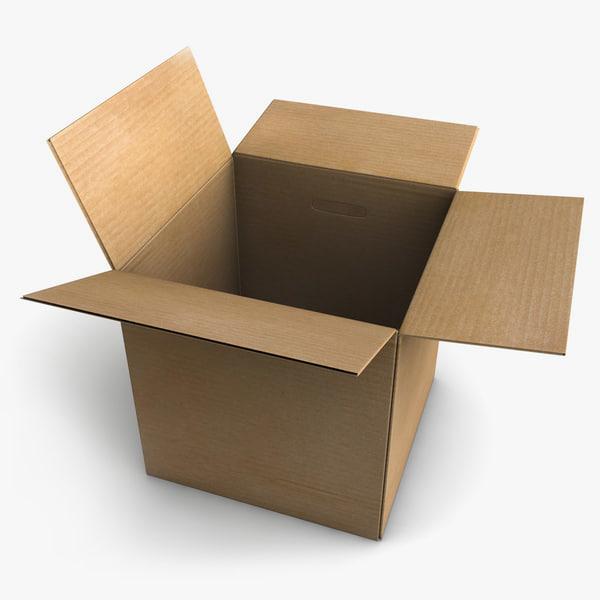 3d model cardboard box cardboard box by c4dmodelshop