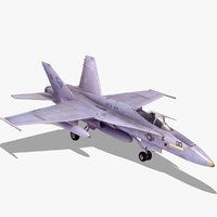 3d model hornet strike fighter jet