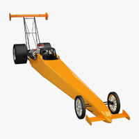 fuel drag dragster 3d model