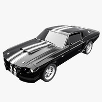 3d mustang 1967 shelby