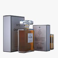 3d model - chanel n°5 perfume bottles