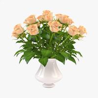 Roses in Vase 3
