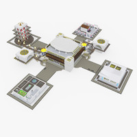 3d model buildings city scene