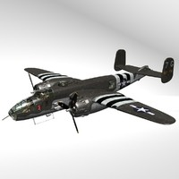 3d b25 michell bomber wwii aircraft