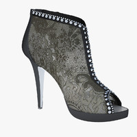 Caovilla - Lace Noir Shoes
