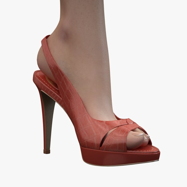 - red sandals caovilla 3d obj - Caovilla - Red Sandals... by marco brunori