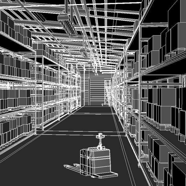 3d model scene - Warehouse Scene... by QLEE