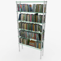 206 Books On Glass Bookshelf
