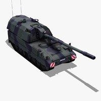 3d model panzer haubitze 2000 artillery