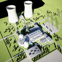 Nuclear Power Plant Scene