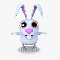 Cartoon Bunny 01 Blue