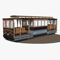 3d 3ds cable car