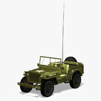 army willys jeep 3d model