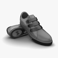 3d grey sport shoes