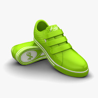 3d model lime sport shoes